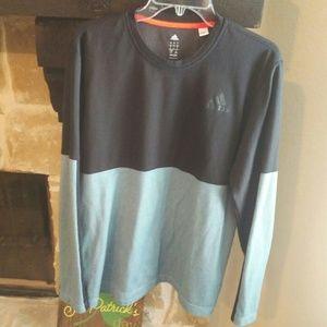 Mens Adidas Sz LG Long Sleeve Climalite Shirt